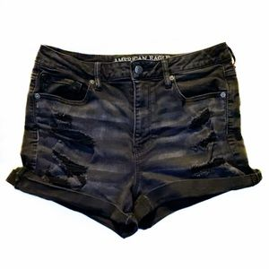 AE Distressed Super Hi-Rise Shortie